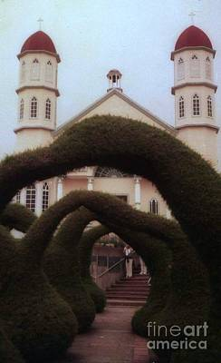 Photograph - Costra Rica Garden Church by Ted Pollard