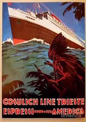 Cosulich Cruse Line Poster Art Print
