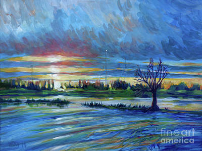 Bfa Painting - Cosumnes Tree by Vanessa Hadady BFA MA