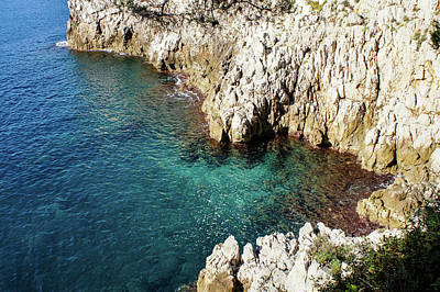 Photograph - Cote D Azur - Silky Mediterranean Cove In The Sunshine by Georgia Mizuleva