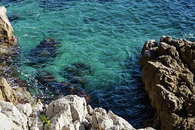 Photograph - Cote D Azur - Stark White And Silky Azure Blue by Georgia Mizuleva