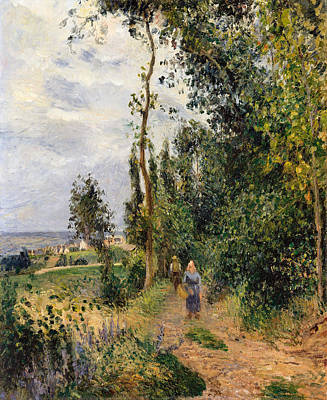Beers On Tap - Cote des Grouettes near Pontoise by Camille Pissarro