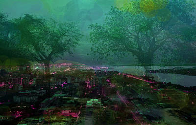 City Digital Art - Cote D'ivoire Night by Paul Sutcliffe