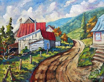 Quebec Painting - Cote Ste-anne 02 by Richard T Pranke