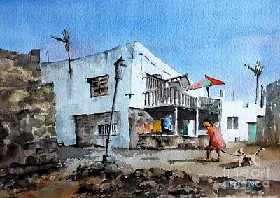 Painting - F 903 Cotillo, Forteventura, Spain by Val Byrne