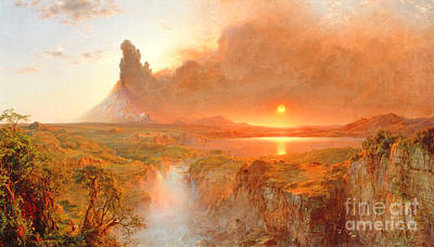 The Plateaus Painting - Cotopaxi by Frederic Edwin Church