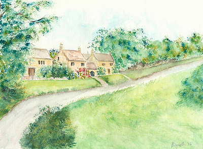 Painting - Cotswold Cottages by Elizabeth Lock