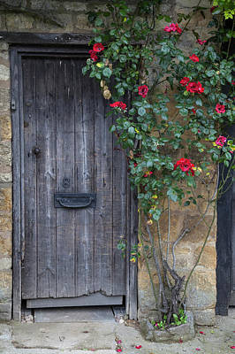 Wall Art - Photograph - Cotswold Door And Roses by Soroush Mostafanejad
