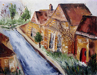 Landscape Painting - Cotswold Street by Roxy Rich
