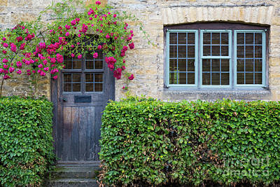 Art Print featuring the photograph Cotswolds Cottage Home by Brian Jannsen