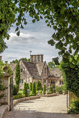 Cotswolds Country Manor Art Print