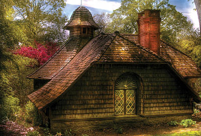 Cottage - Sweet Old Lady House Art Print by Mike Savad