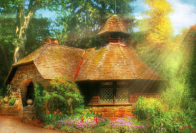 Charming Cottage Photograph - Cottage - A Little Dutch House by Mike Savad