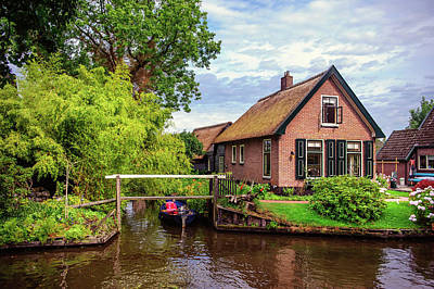 Photograph - Cottage At Canal In Giethoorn by Jenny Rainbow