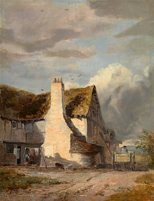 Augustus Wall Callcott Painting - Cottage By A Country Lane by Augustus Wall Callcott