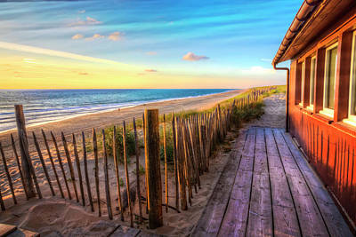 Sanddunes Photograph - Cottage By The Sea by Debra and Dave Vanderlaan