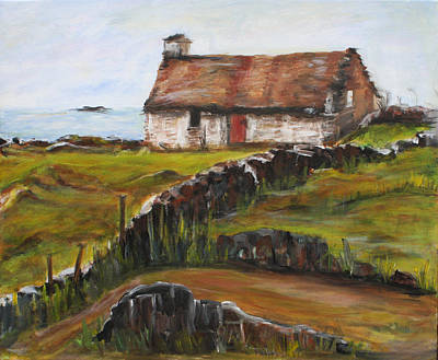 Painting - Cottage By The Sea by Denice Palanuk Wilson