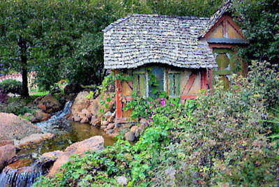 Riverbed Painting - Cottage Fantasy by Kristin Elmquist
