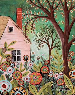 Cottage Garden 1 Art Print by Karla Gerard