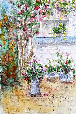 Painting - Cottage Garden by Kume Bryant