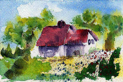 Painting - Cottage Home by Anne Duke