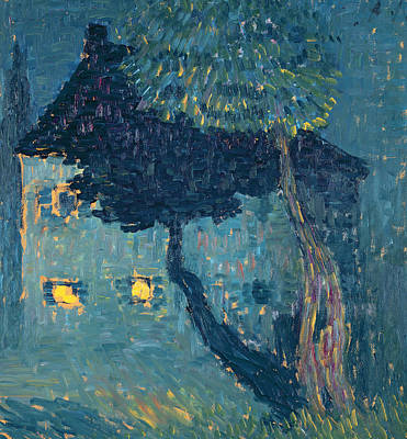 Painting - Cottage In The Woods by Alexej von Jawlensky