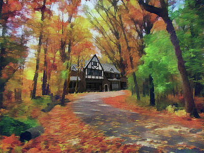Photograph - Cottage In The Woods by Cedric Hampton