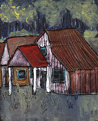 Rural Buildings Painting - Cottage In The Woods by Wayne Potrafka