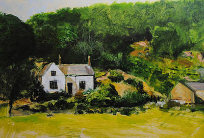 Cottage In Wales Art Print by Harry Robertson