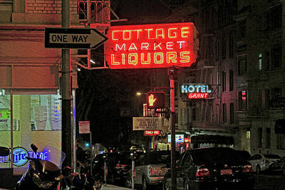 Photograph - Cottage Market Liquors On Bust St by Bonnie Follett