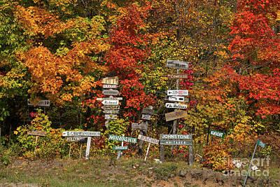 Photograph - Cottage Name Signs by Les Palenik