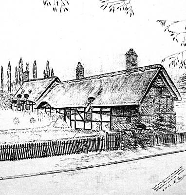Drawing - Cottage Of Anne Hathaway by Hazel Holland