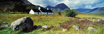 Rannoch Moor Photograph - Cottage On A Landscape, Black Rock by Panoramic Images