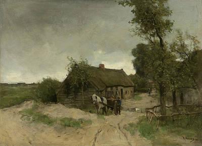 Mauve Painting - Cottage On The Dirt Road by Anton Mauve