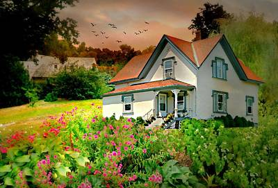 Photograph - Cottage On The Hill by Diana Angstadt