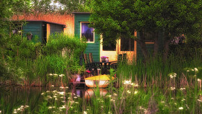 Photograph - Cottage On The Water by Thomas Hall