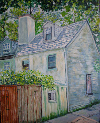 Philadelphia Scene Painting - Cottage Philly by Lucille Femine