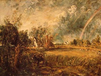 Painting - Cottage Rainbow Mill by Constable John