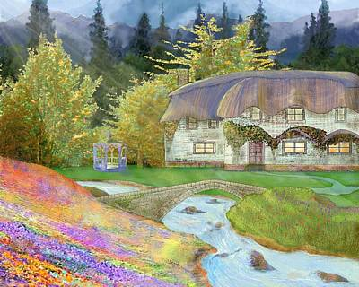 Digital Art - Cottage by Victor Shelley