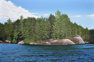 Painting - Cottage View Silver Lake by Kenneth M Kirsch