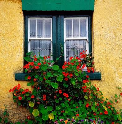 Cottage Window, Co Antrim, Ireland Art Print by The Irish Image Collection