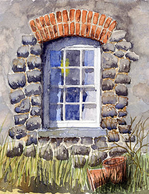 Cottage Window Art Print by Mike Lester