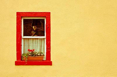 Cottage Window Print by Tom Gowanlock