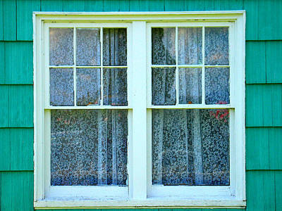 Rhoades Photograph - Cottage Windows by Mg Blackstock
