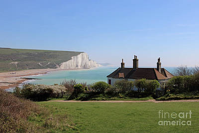 Photograph - Cottages And Seven Sisters by Julia Gavin