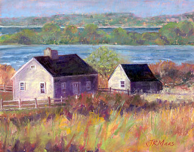 Cottages By The Bay Art Print
