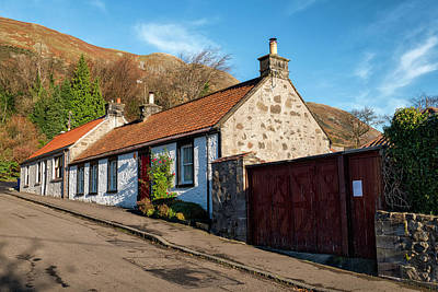 Photograph - Cottages In Central Scotland by Jeremy Lavender Photography