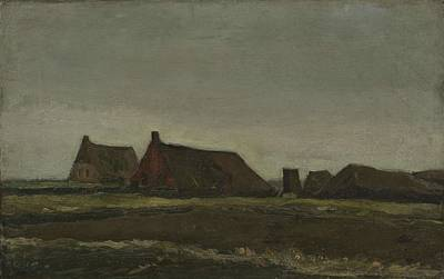 Painting - Cottages Nieuw Amsterdam, September - November 1883 Vincent Van Gogh 1853  1890 by Artistic Panda