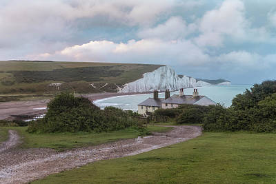 Seaford Photograph - cottages Seven Sisters - England by Joana Kruse
