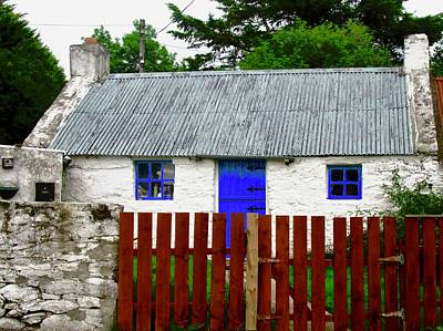 Photograph - Cottawa With Blue Door by Stephanie Moore